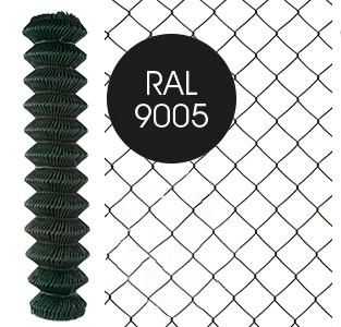 giardino tennisdraad geplastificeerd zwart (mazen: 50 x 50 x 2.7mm)