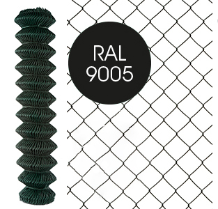 giardino tennisdraad geplastificeerd zwart (mazen: 50 x 50 x 3mm)