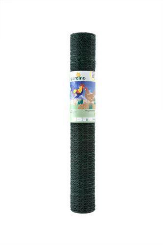 giardino zeskant vlechtwerk geplastificeerd groen (mazen: 25cm)