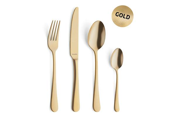 giftbox vintage bestekset gold (24-delig)