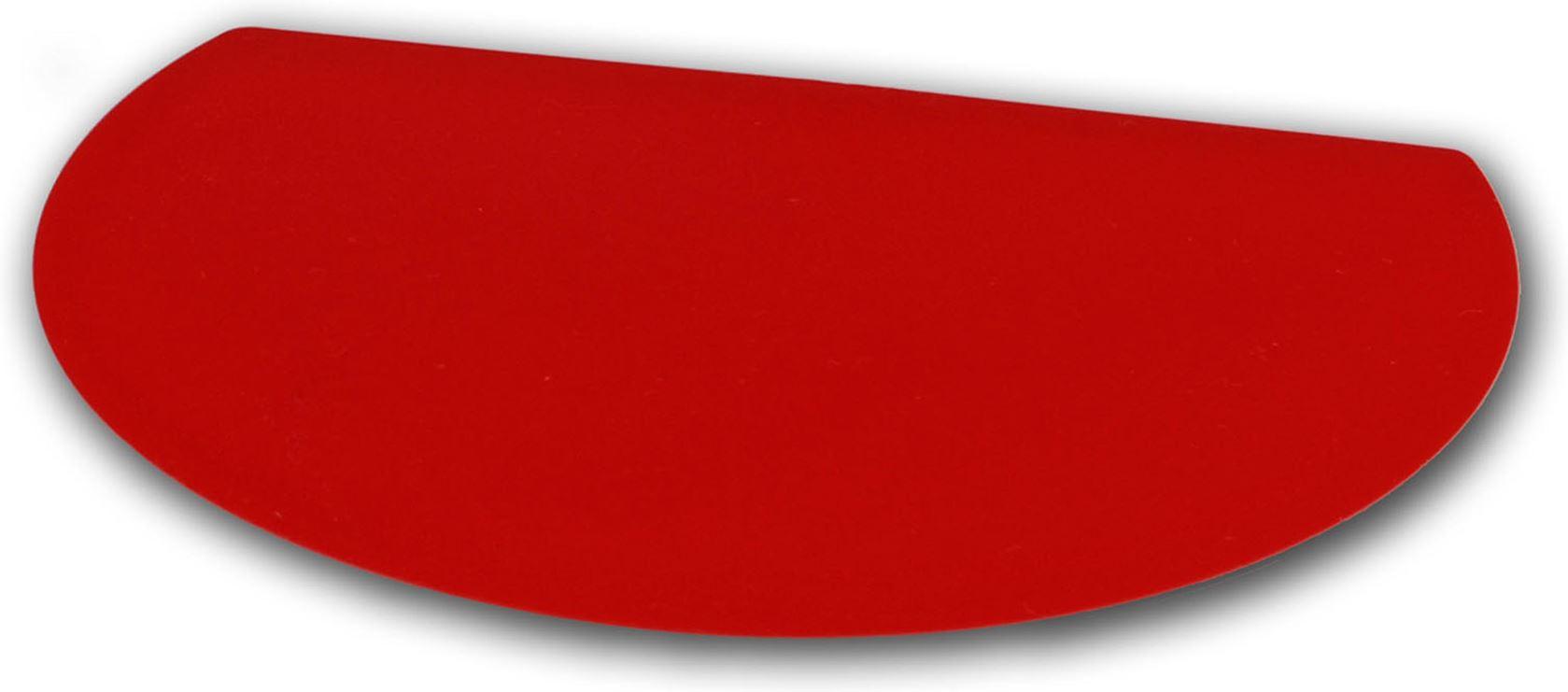gobel deegschraper en-snijder kunststof rood