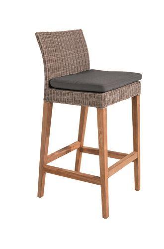 gescova cuba bar chair wicker / teak