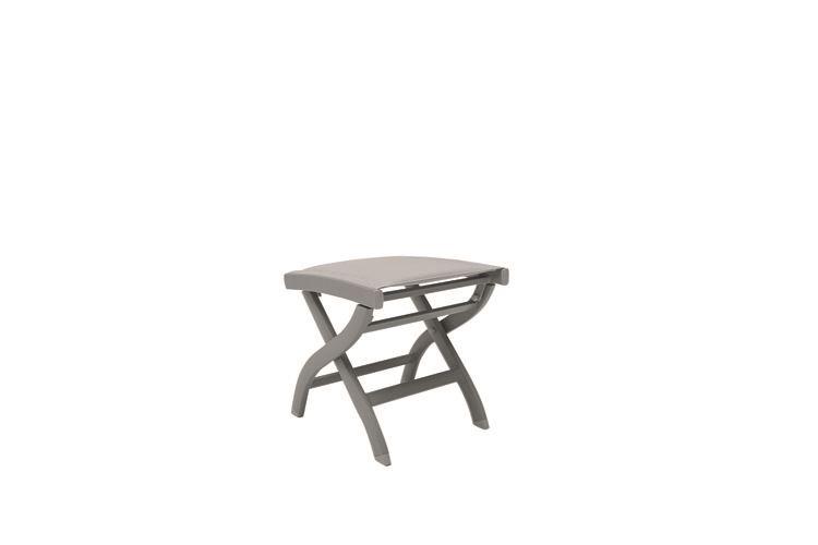 gescova nice footstool alu warm grey mat batylene