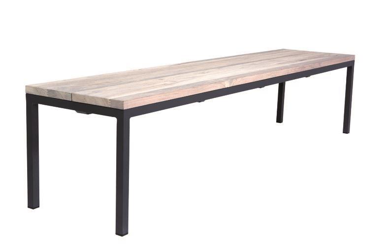 gescova siani bench alu charcoal mat teak top