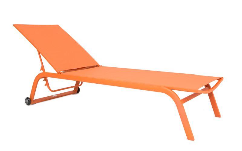gescova zaragoza stacking sunlounger alu orange mat