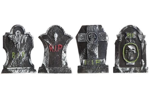 grafsteen halloween rip grijs (4ass.)