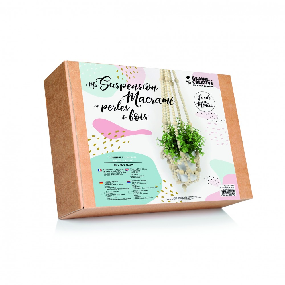 graine créative houten kit macrame