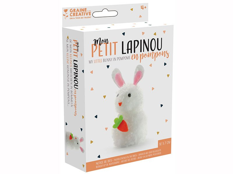 graine créative kit pompon konijn