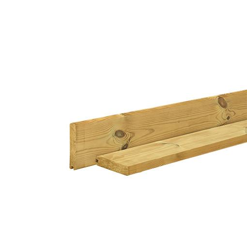 grenen afdekplank blokhutprofiel