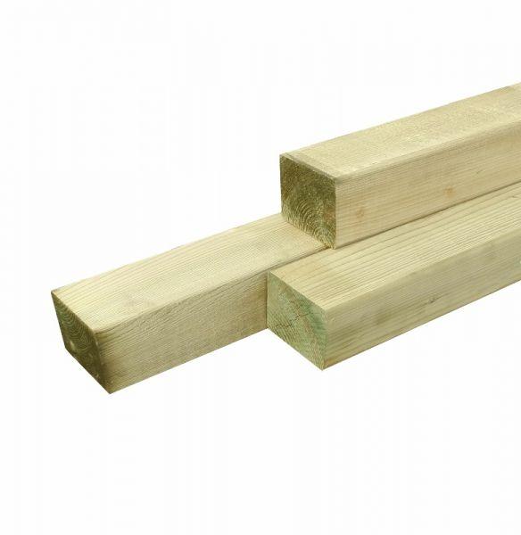 grenen paal vierkant met afgeronde hoeken