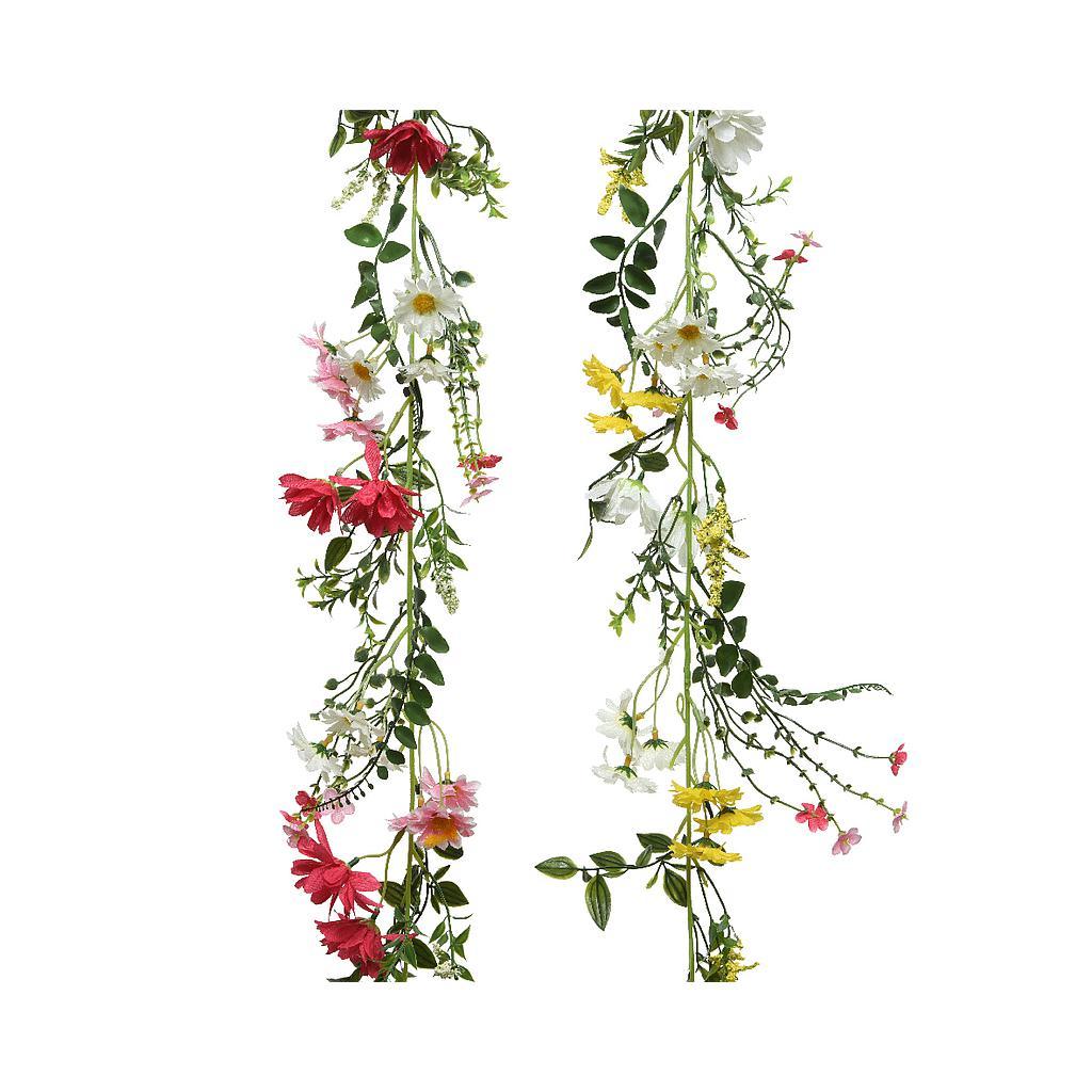 guirlande bloemen (2 kleuren ass.)