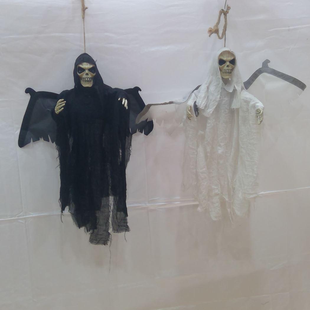 halloween skull/ sonic control black white led (2ass.) (b/o)