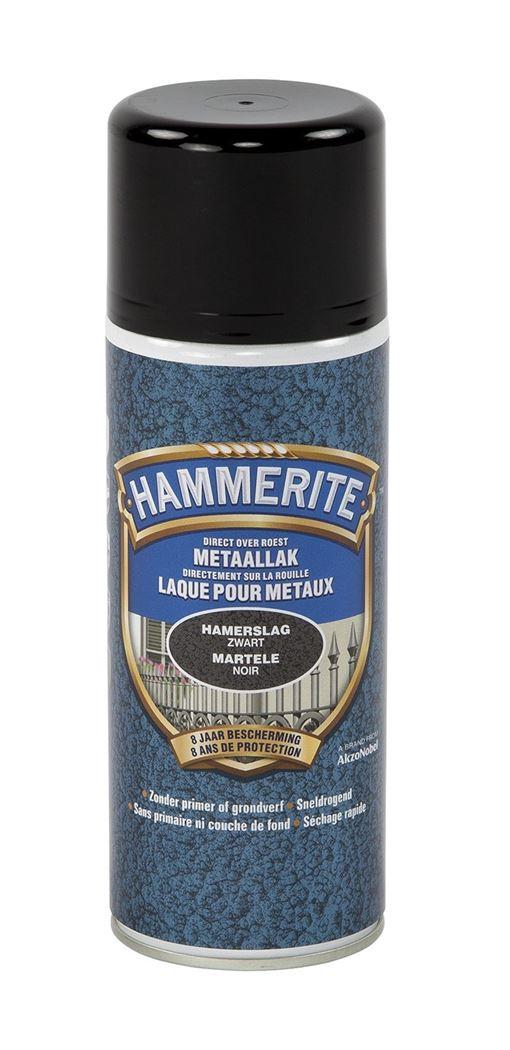 hammerite hamerslaglak spray zwart