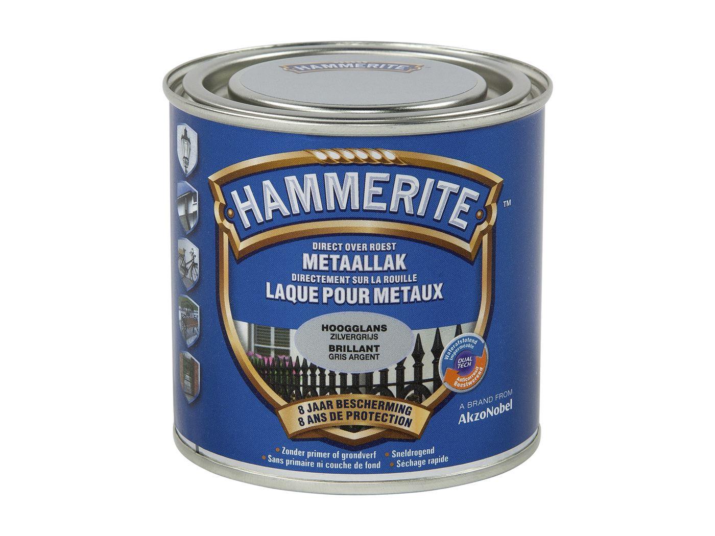 hammerite hoogglanslak zilvergrijs