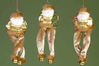 hangdeco kerstman m/losse benen goud (3ass.)