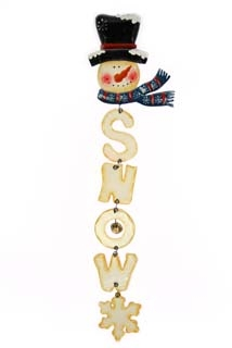 hangdeco wood 'snow' sneeuwman m/belletjes