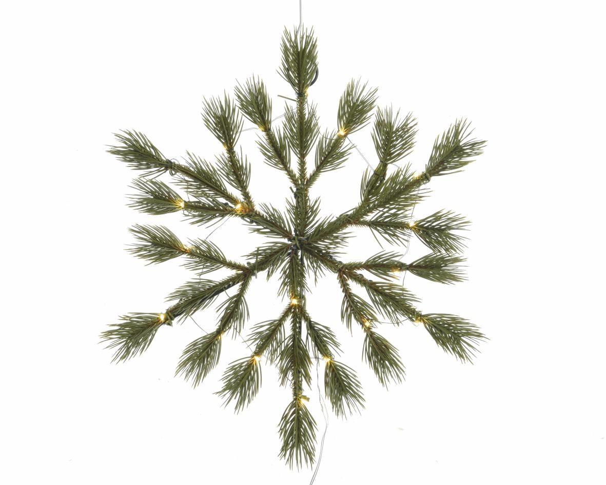 hanger pe sneeuwvlok pre-lit groen (b/o)