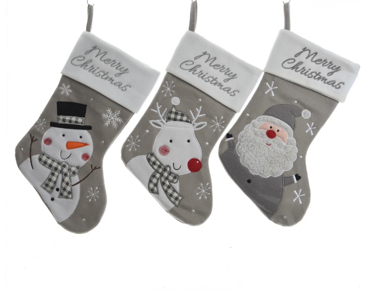 hanger sok polyester grijs/sneeuw (3ass.)