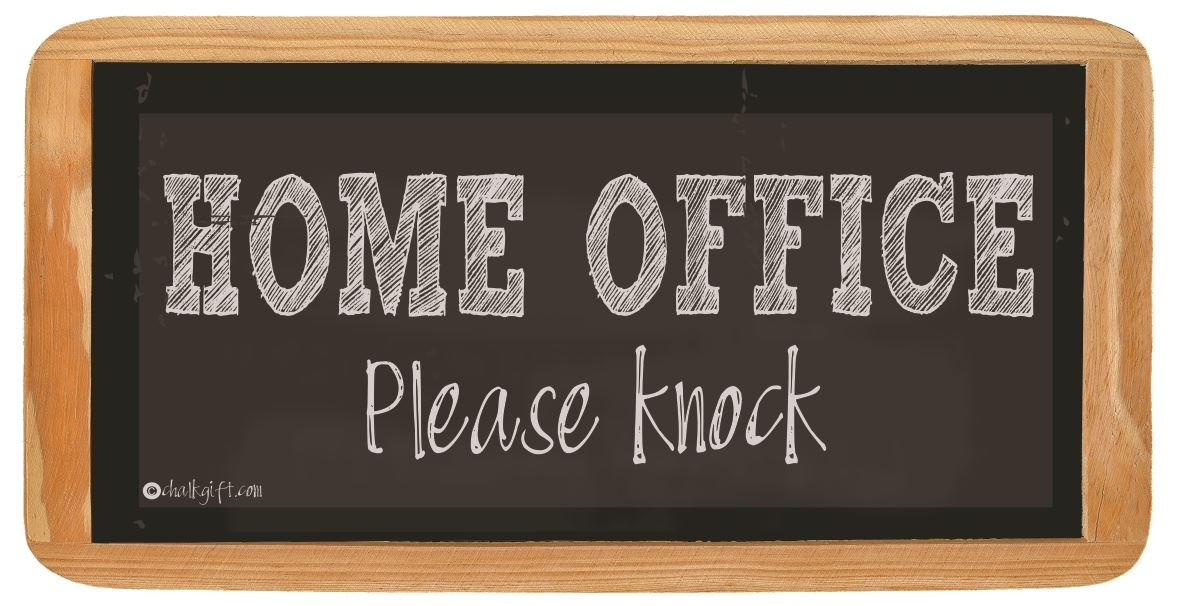 hanging sign home office