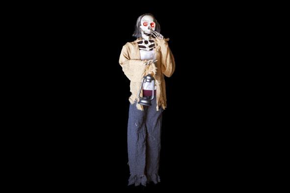 hangpop skelet met licht