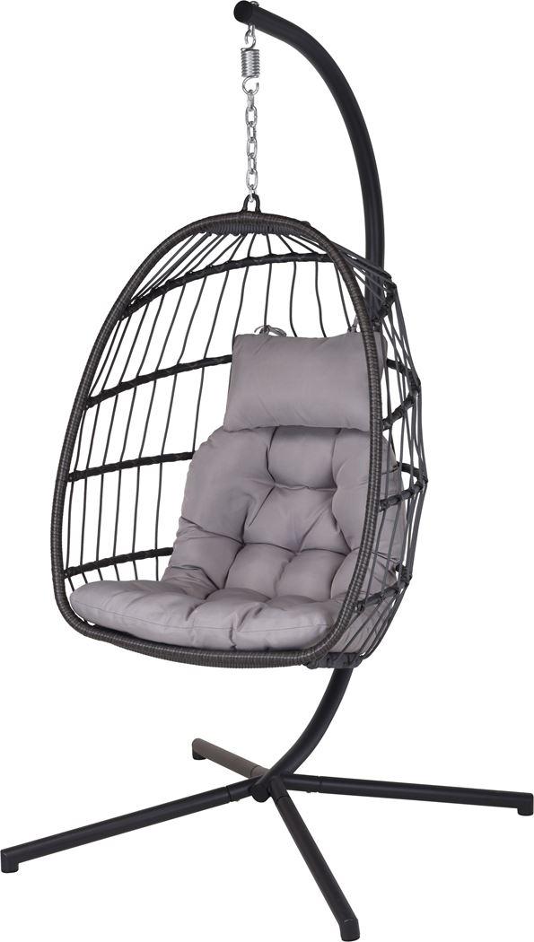 hangstoel pe rotan grijs