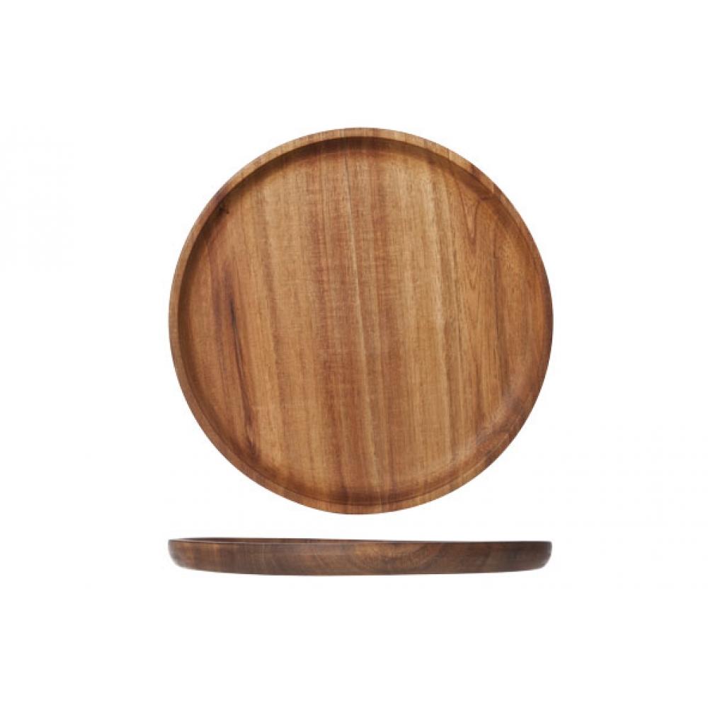 houten bord rond oil coating