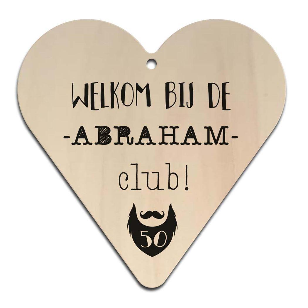 houten gift heart - abraham