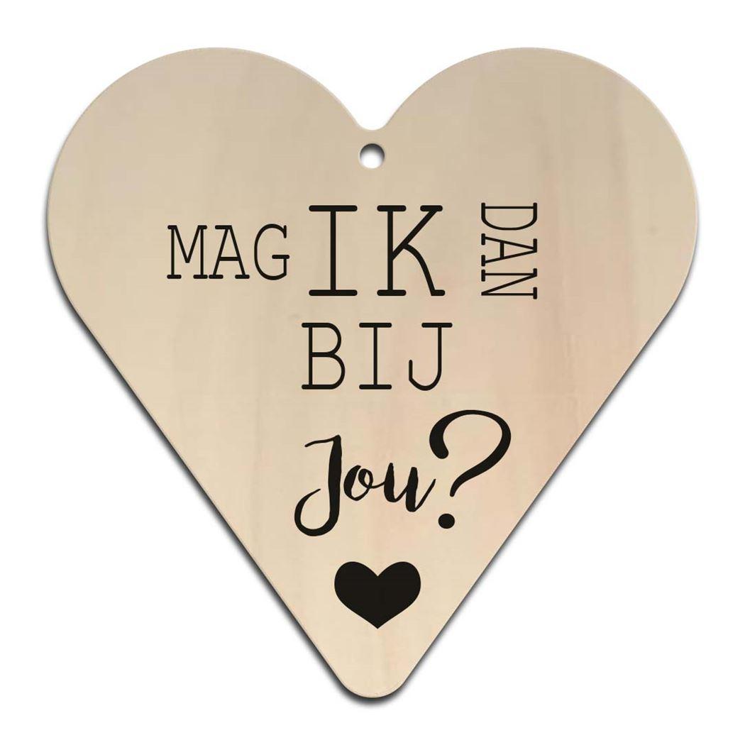 houten gift heart - mag ik dan bij jou