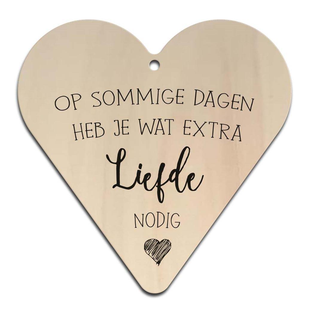 houten gift heart - sommige dagen