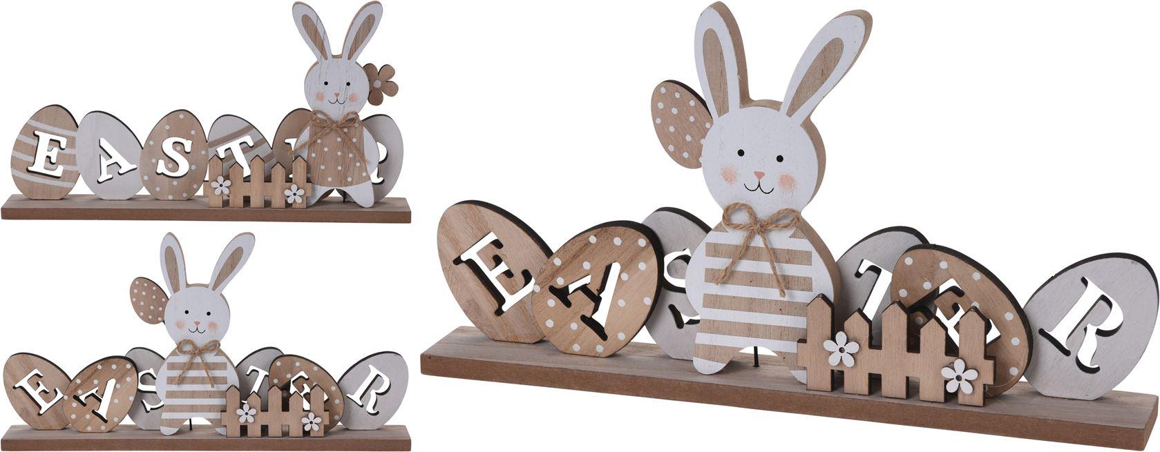 houten konijn deco (2ass.)