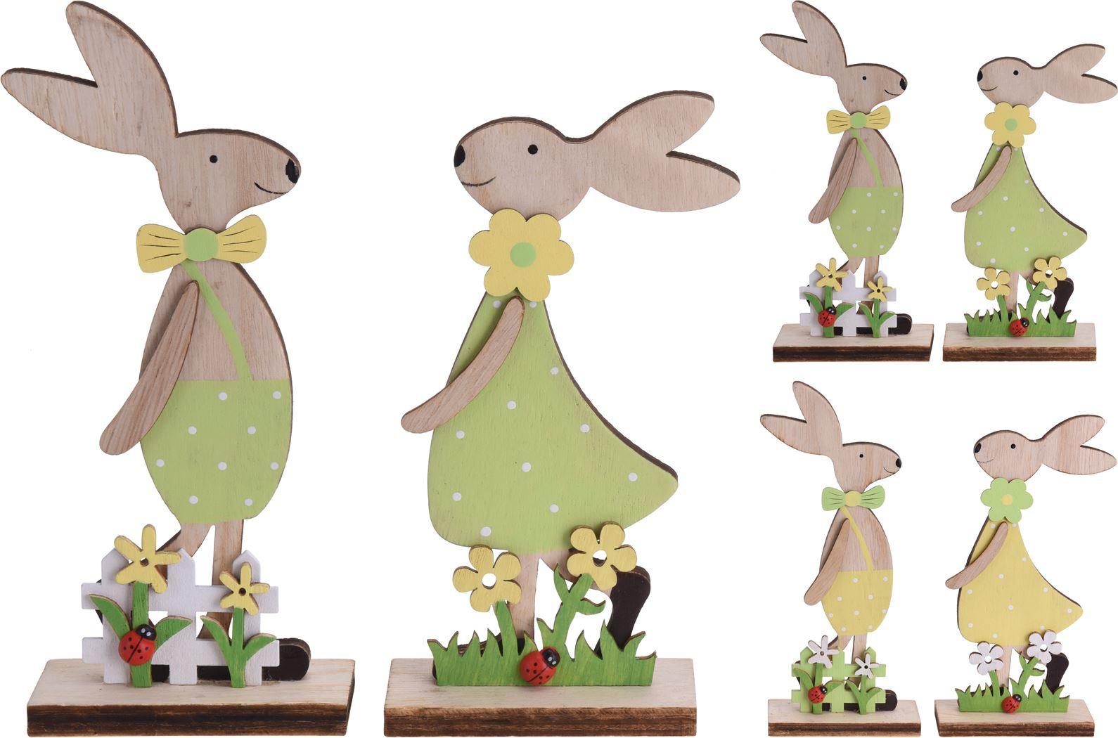 houten konijn jongen/meisje (2ass.)
