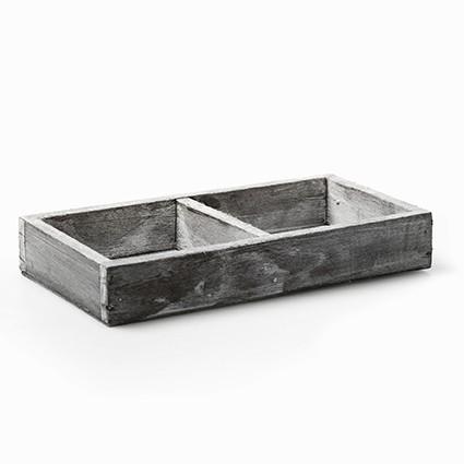 houten onderbord grijs 2-vak
