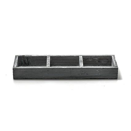 houten onderbord grijs 3-vak