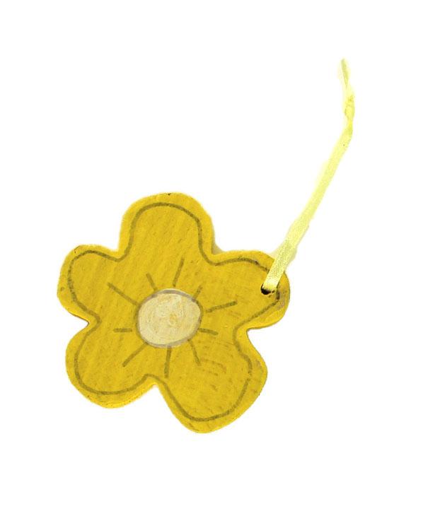 houten paashanger geel (2sts)(5ass.)