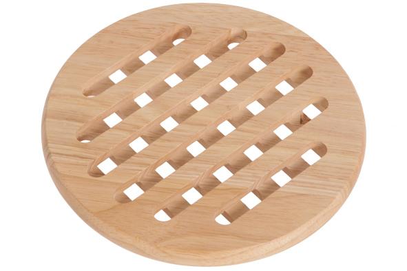 houten potstaantje rond
