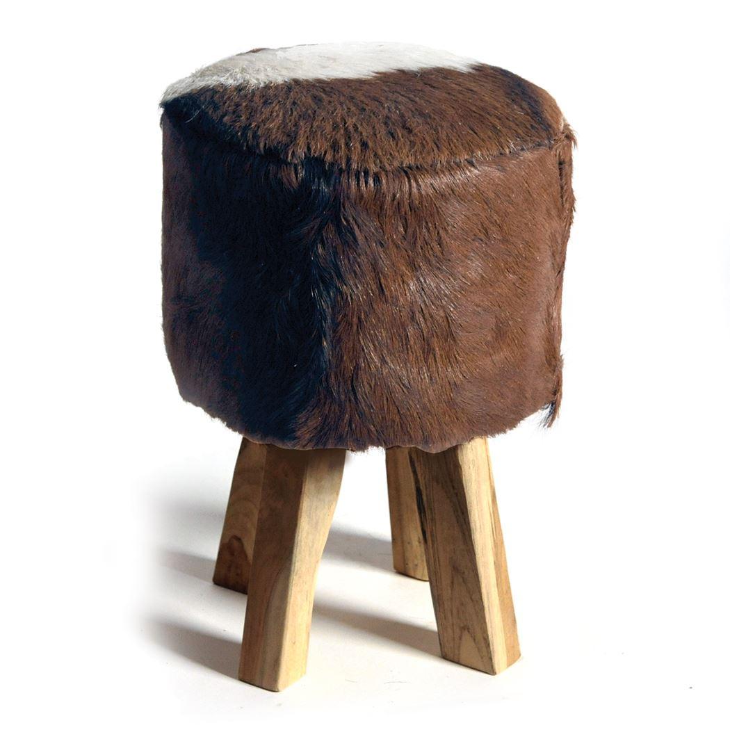 huntsman stool thick brown