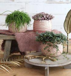 ideas mila pot crackle glaze soft pink (3ass.)