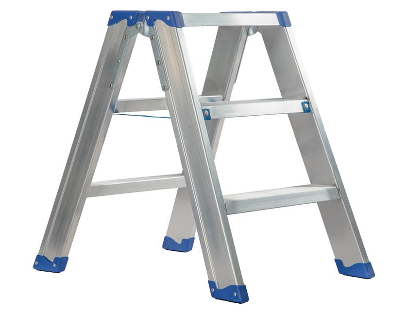 industriële trapladder aluminium dubbel