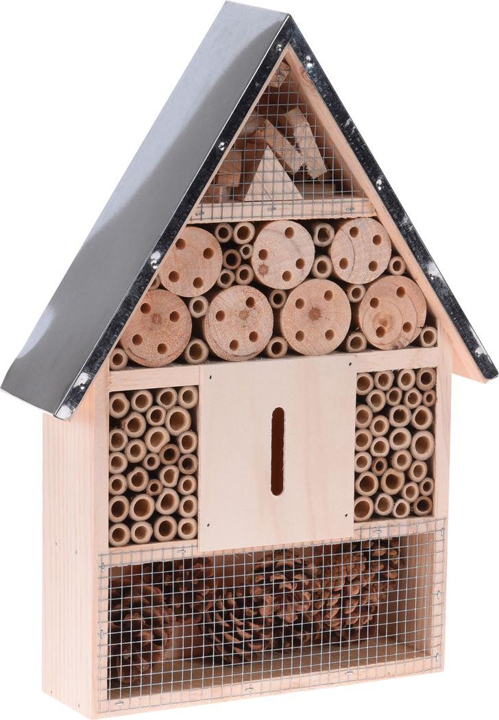 insectenhotel hout met metalen