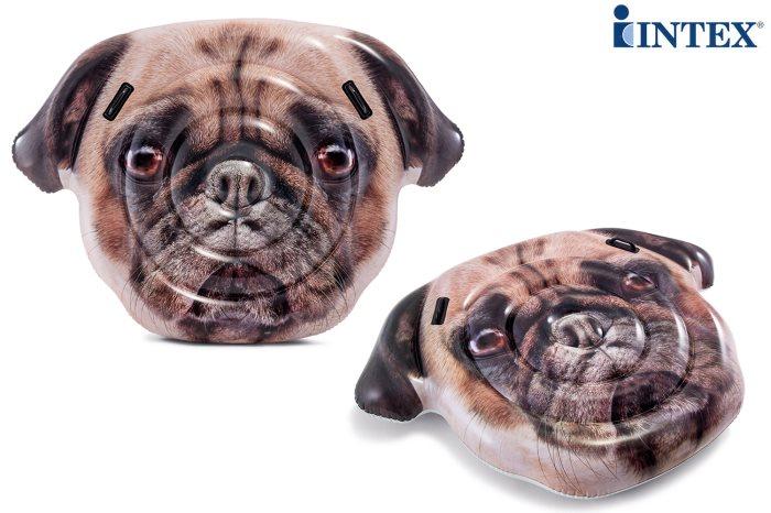 intex opblaasbaar luchtbed pug face