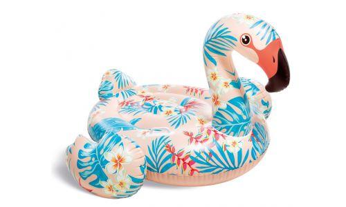intex ride-on tropical flamingo