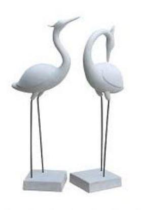 i&o sandstone flamingos grey (2-dlg)