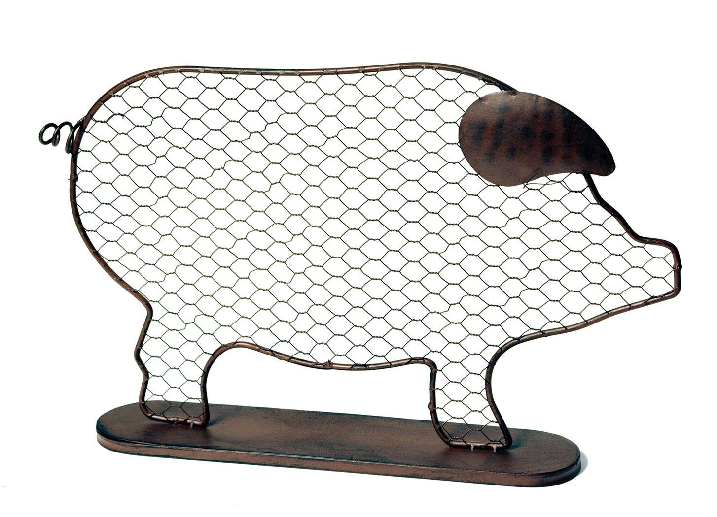 iron decor pig rust