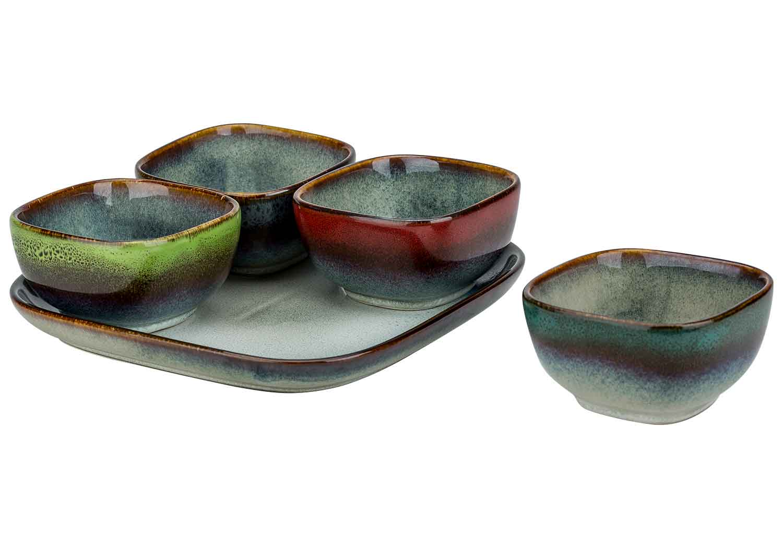 jamiro mix aperoset (5-delig) - 4 bowls & 1 bord