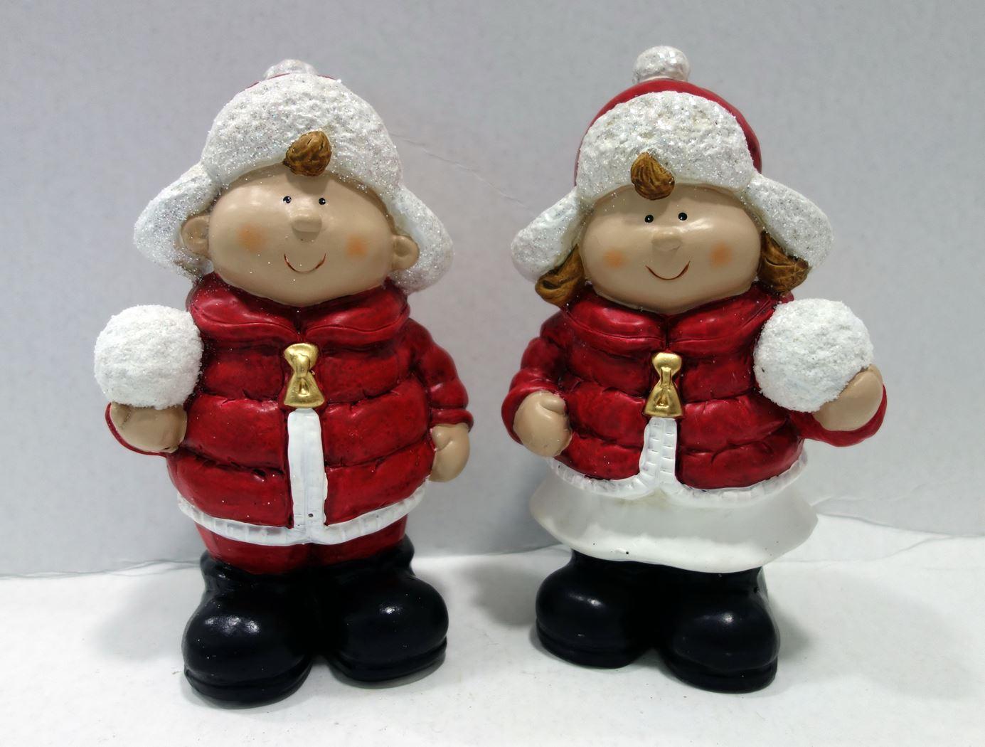 jongen en meisje met sneeuwbal (2ass.)