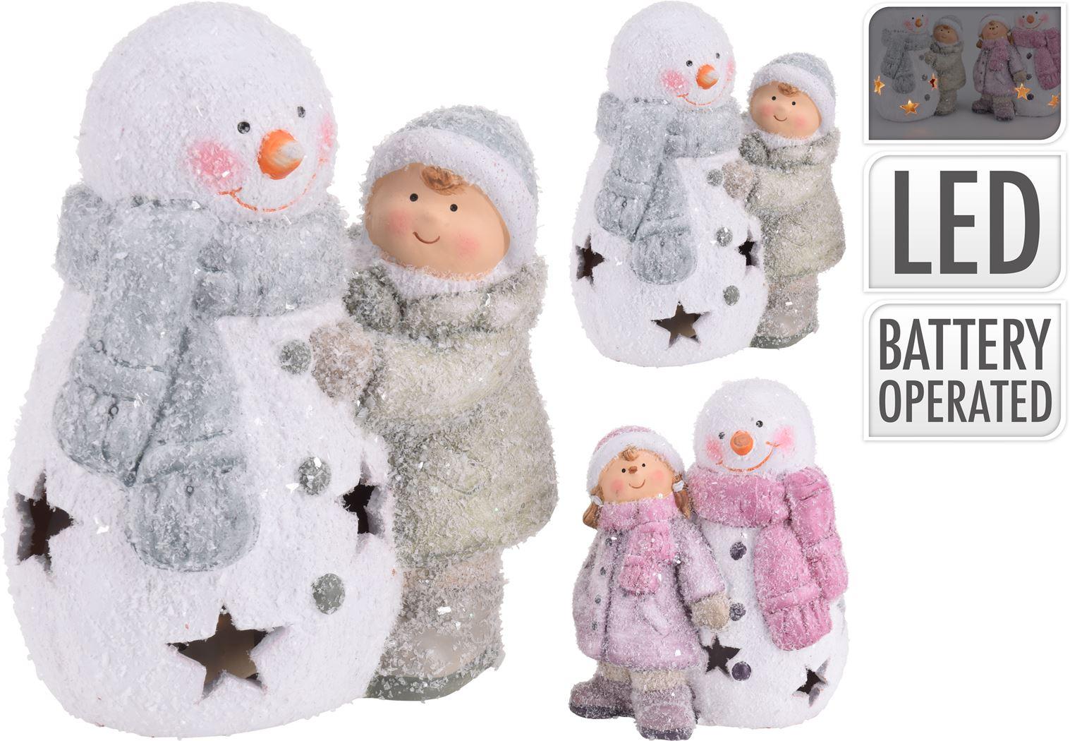 jongen/meisje sneeuwpop