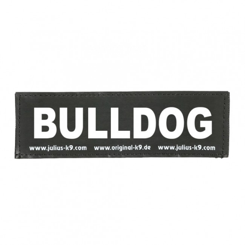 julius-k9 velcro sticker large bulldog (2sts)