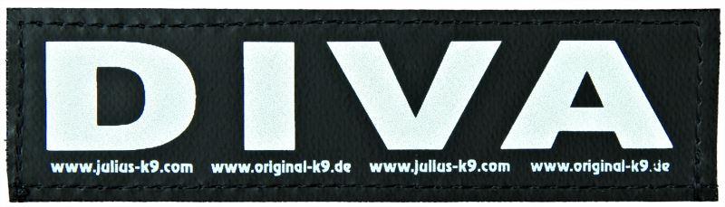 julius-k9 velcro sticker large diva (2sts)