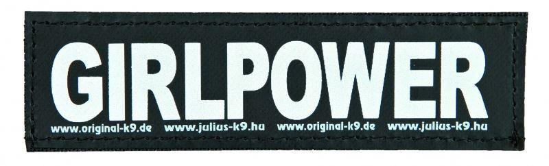 julius-k9 velcro sticker large girlpower (2sts)