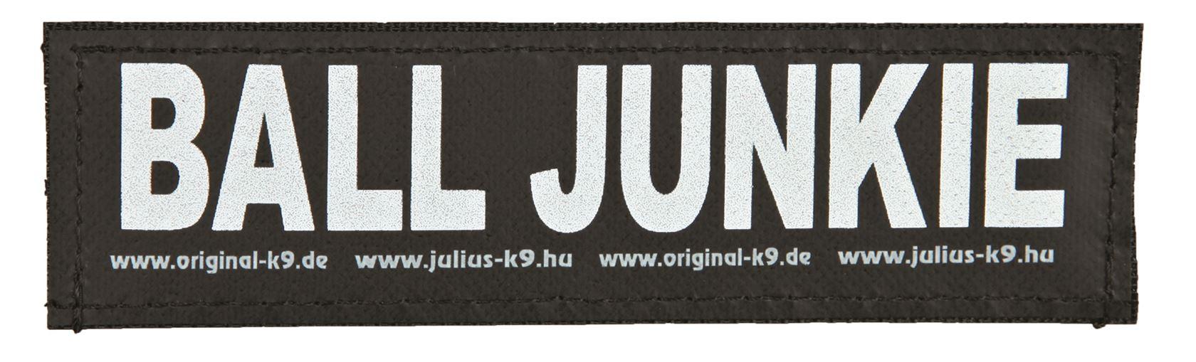 julius-k9 velcro sticker small ball junkie (2sts)